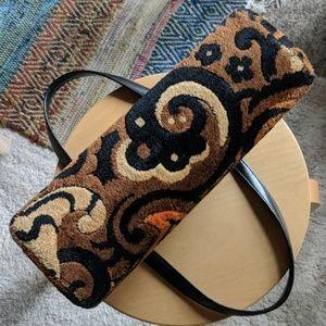 Vintage Bags - Vintage 60's plush carpet bag